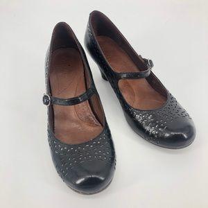 Naya Castalia Mary Jane Pumps 9M Black Heel EUC